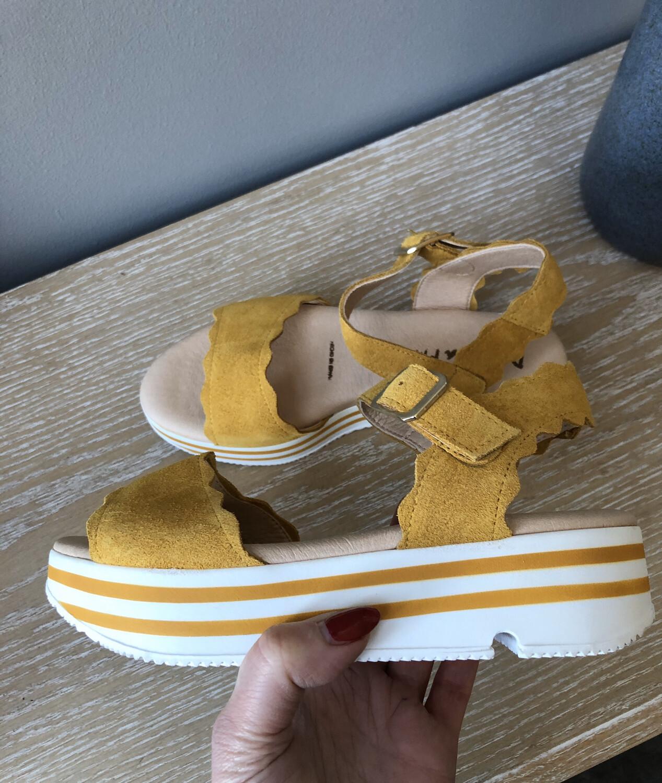 Suede Mustard Sandal