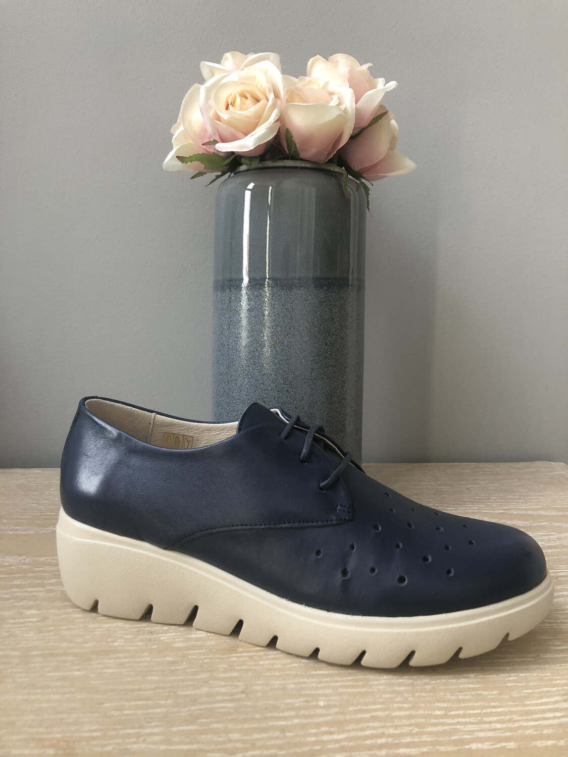 Navy Laced Comfort Light Shoe