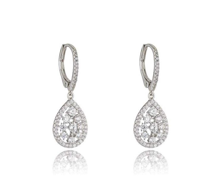 M647EML Julieta Rhodium Earrings
