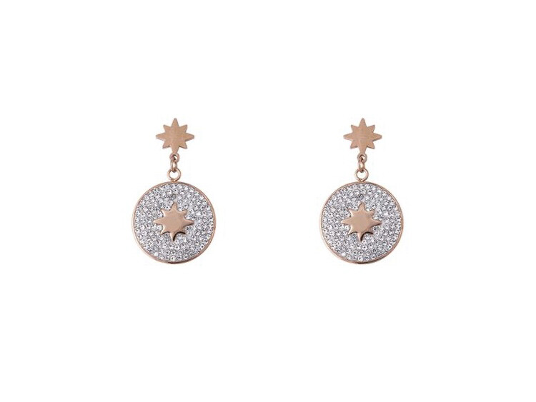 N164EAR Esme ROSE Gold Earrings