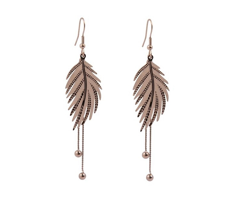 N179EMS Leaf Earrings