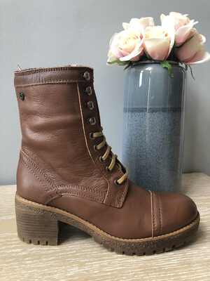 Tan Leather Laced Boot
