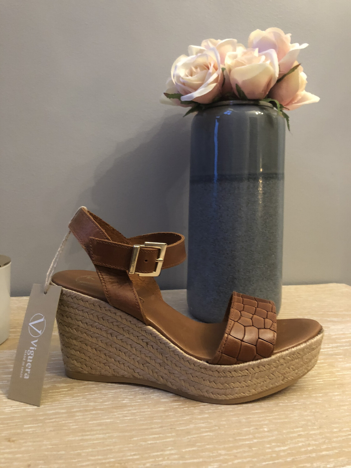Tan Wedge Espadrille 1735