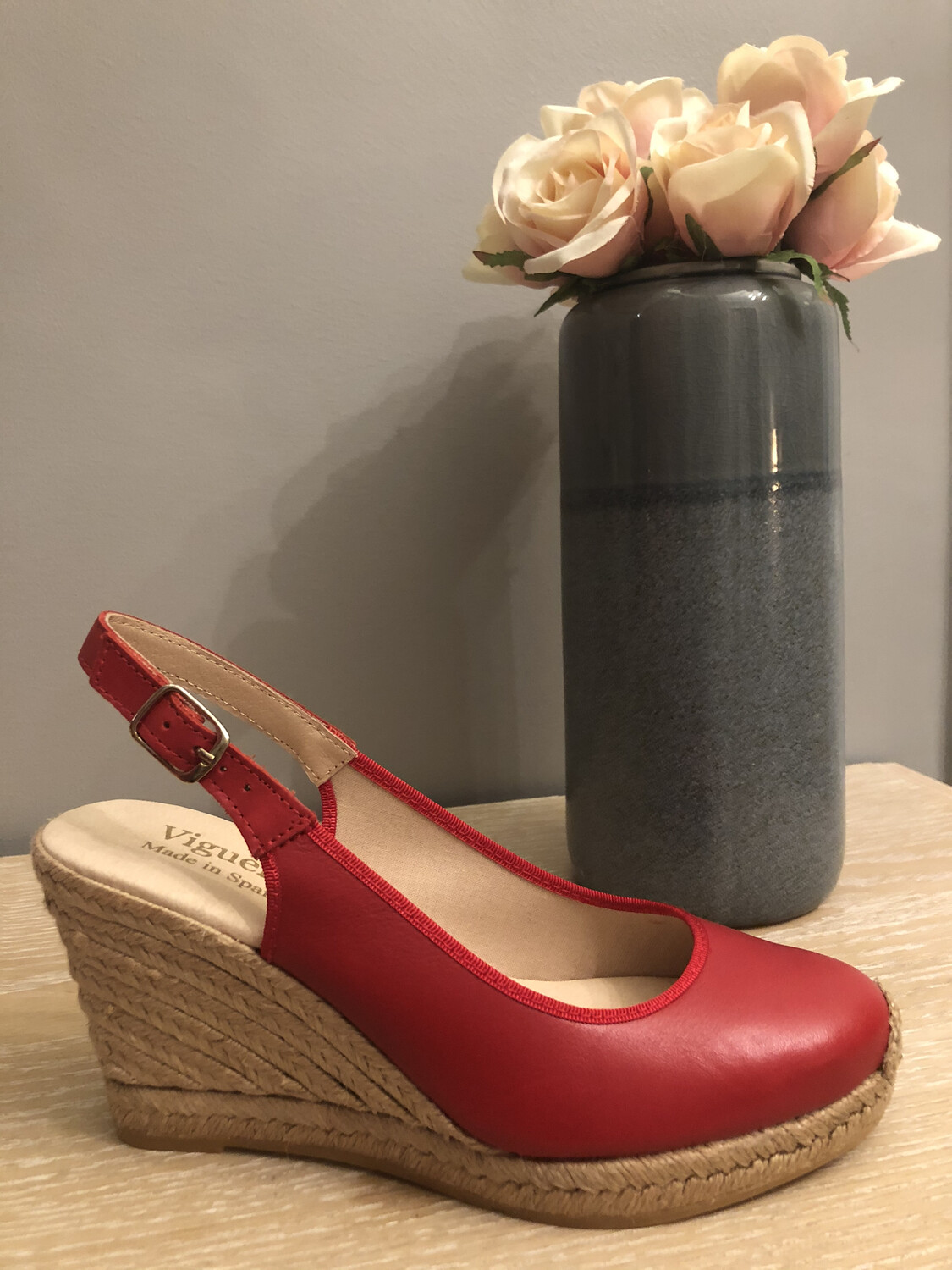 Red Wedge Espadrille 1267
