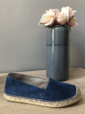 Light Navy Flat Espadrille 0081
