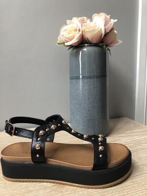 Black Stud Platform Sandal