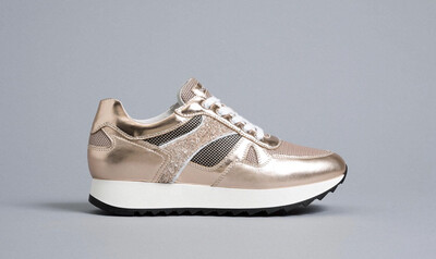 Rose Gold Metallic Sparkle Trainer
