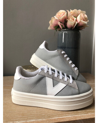 Grey Canvas Platform Trainer