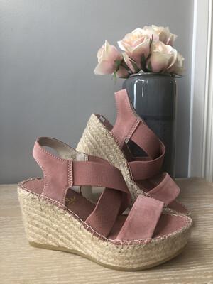 Pink Suede Sandal Espadrille