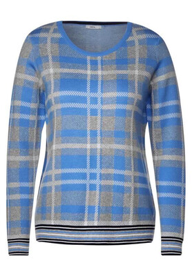 Glacier Blue Checked Jumper
