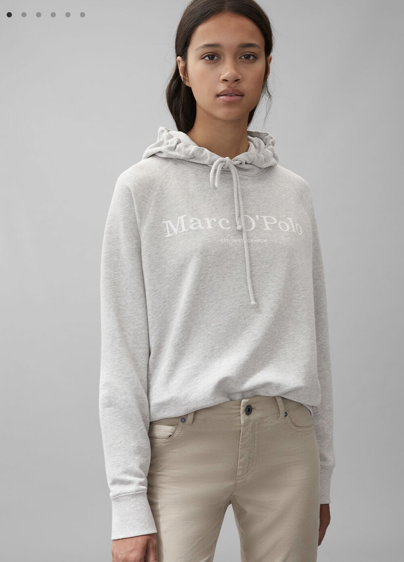 Chalk Grey Organic Hooded Sweatshirt