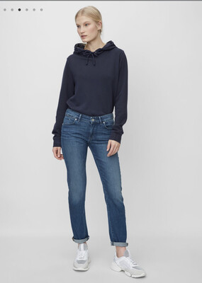 Alby Straight - Mid Waist Denim Trousers