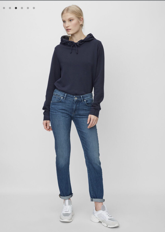 Alby Straight - Mid Waist Denim Trousers