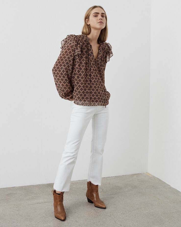 S203201 Rosy Camel Anne Blouse