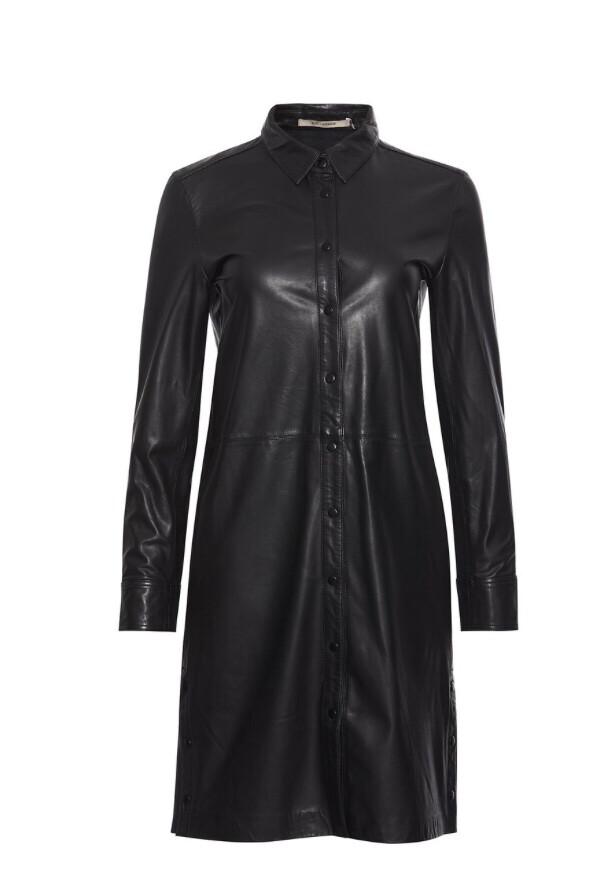 Lianne Leather Shirtdress
