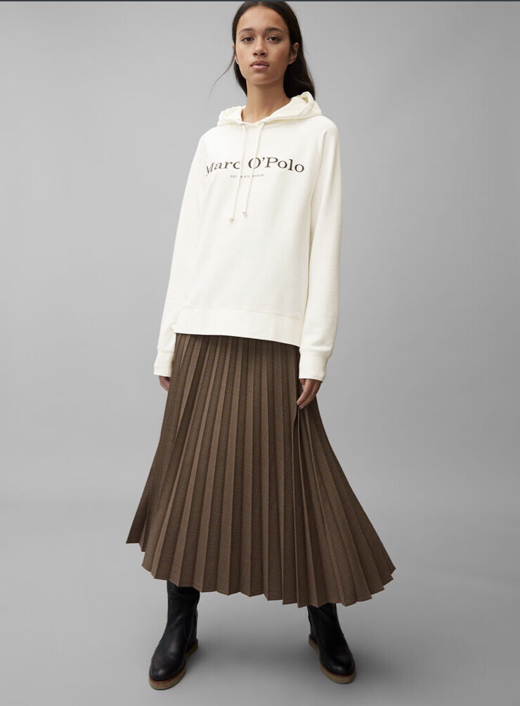 Off White Hooded Sweatshirt