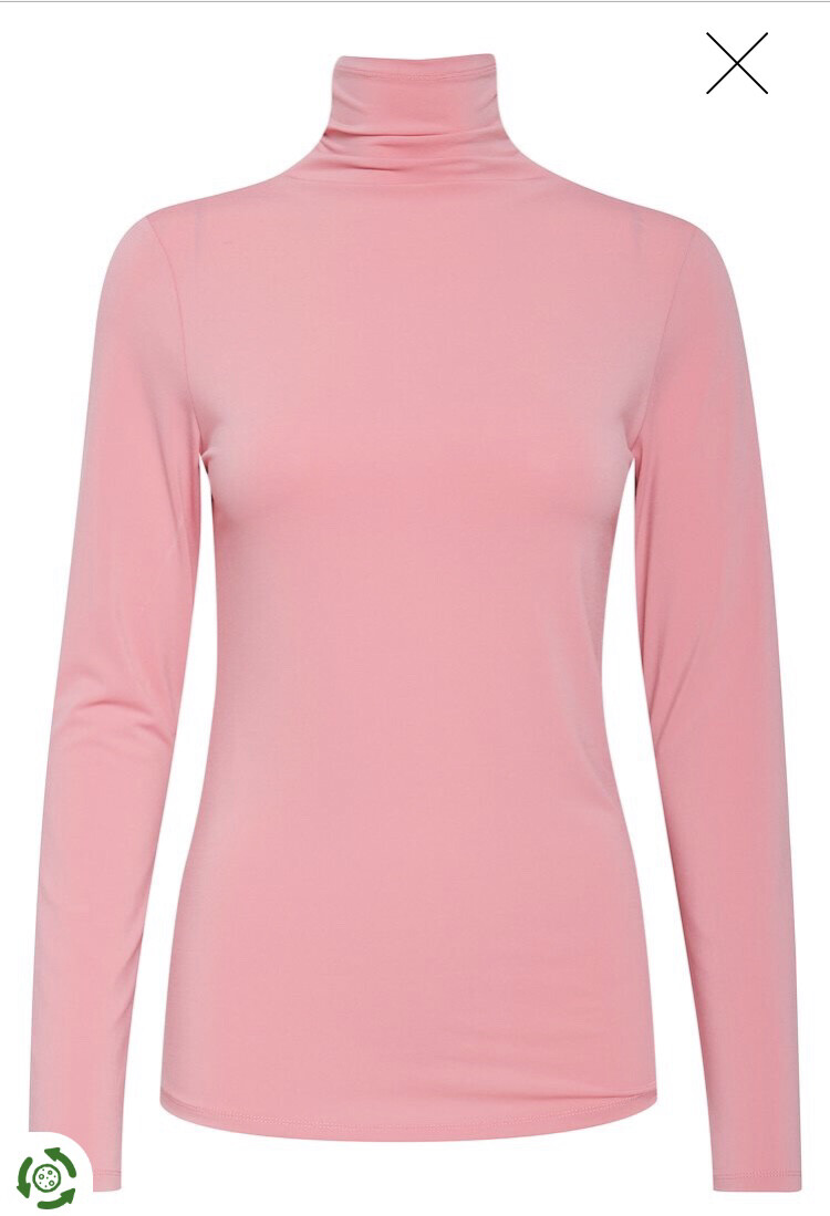 Wild Rose Long Sleeved Polo Neck