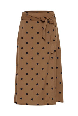 Thrunsh Black Polka Dot Skirt