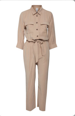 Natural Long Sleeve Jumpsuit