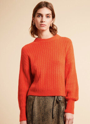 Orange Knit Jumper