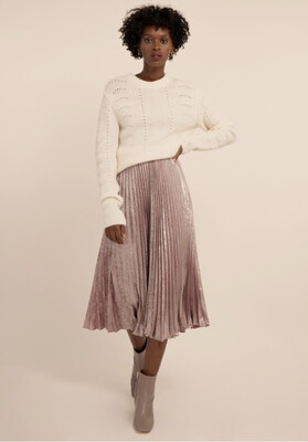 Dusky Pink Metallic Skirt