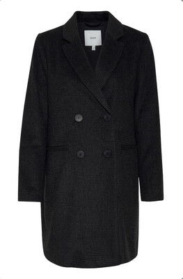 Black Mid Length Coat