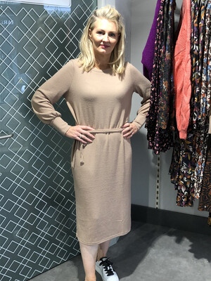 Natural Long Sleeved Dress