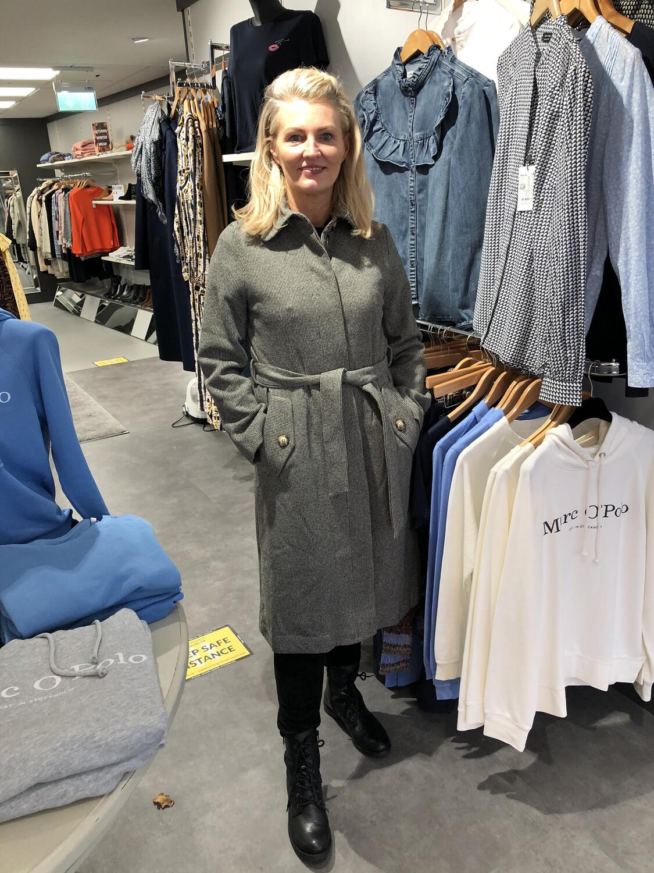 Tweed Belted Wool Coat