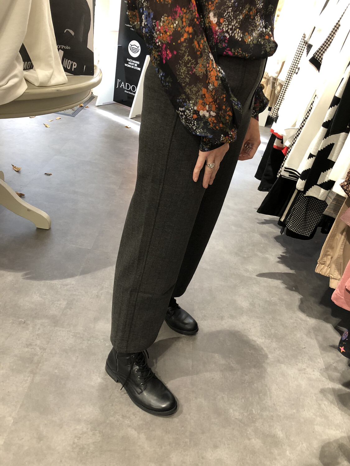 3/4 Tweed Plazzo Trousers