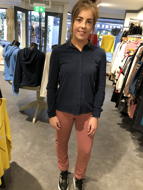 Navy Organic Cotton Knit Shirt