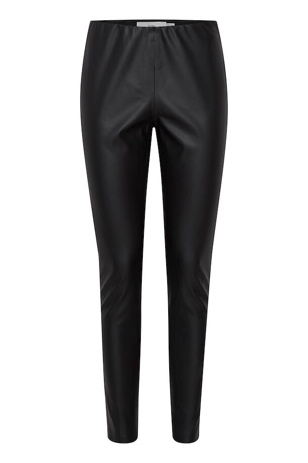 20113590 Black Pleather Skinnies