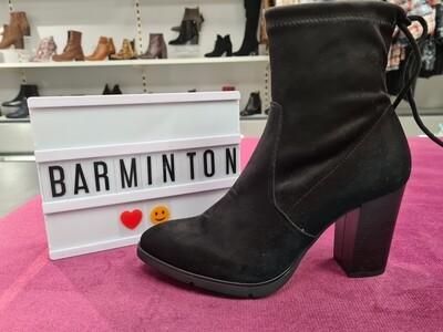Black Sock Boot With High Block Heel