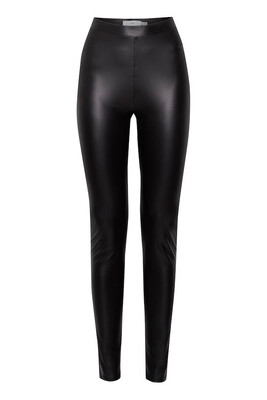 20113591 Black Pleather Skinnies