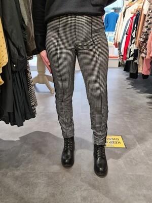 Black And Cream Geo Print Trousers