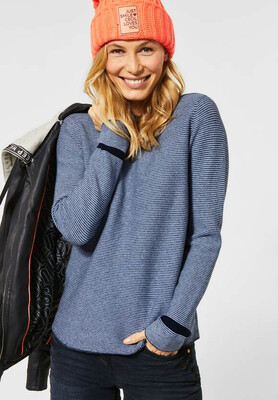 Structured Navy Pullover