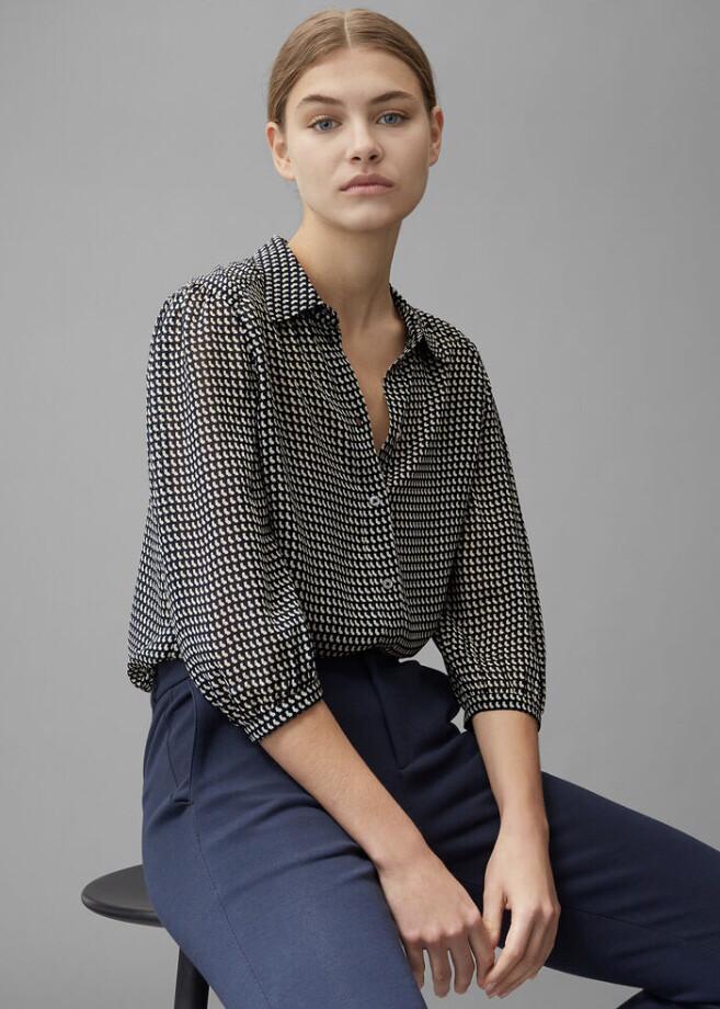 Multi Short Sleeve Blouse