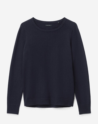 Midnight Blue Cotton Wool Knit