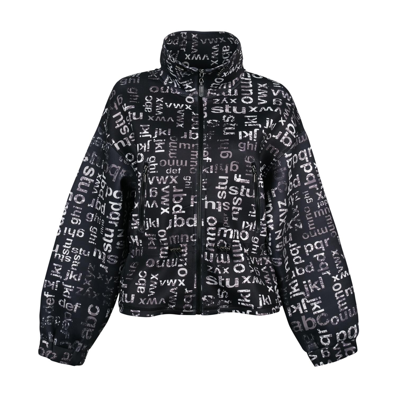 Black Jacket with White Print