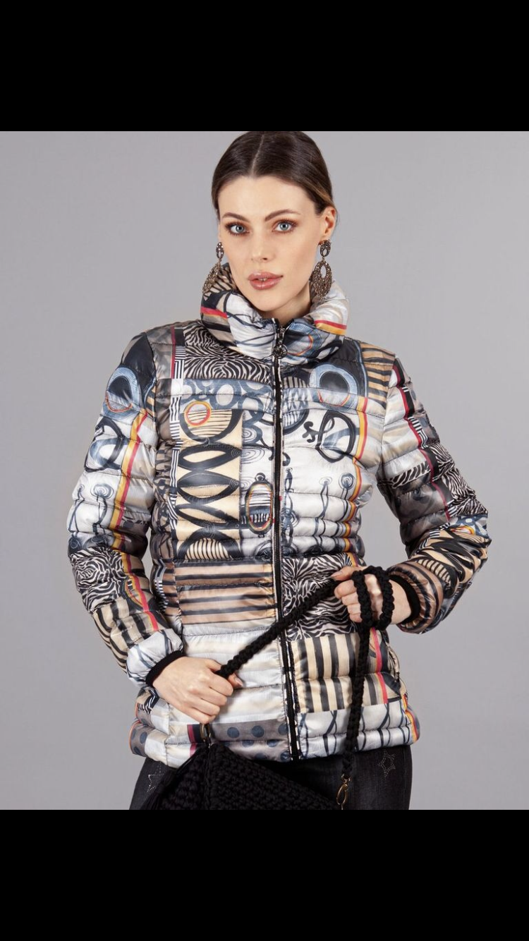Mixed Print Jacket