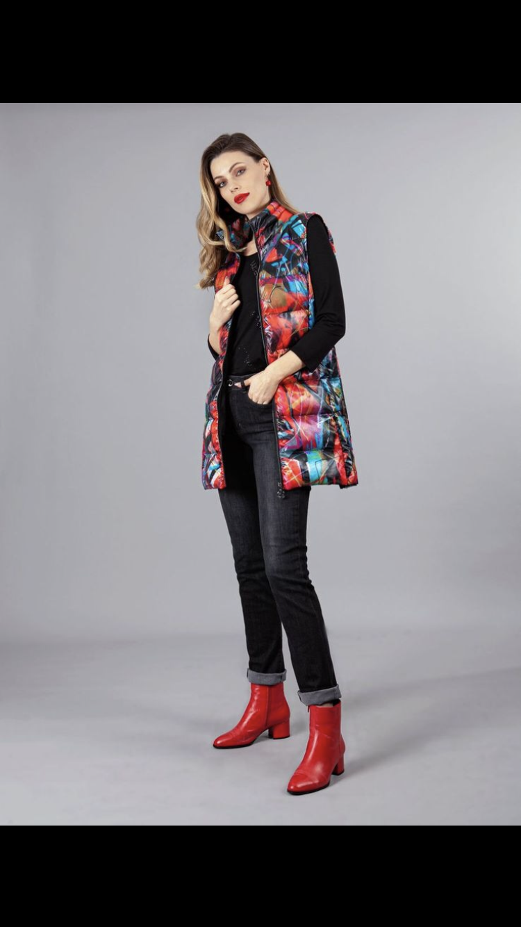 Long Multi Coloured Gilet