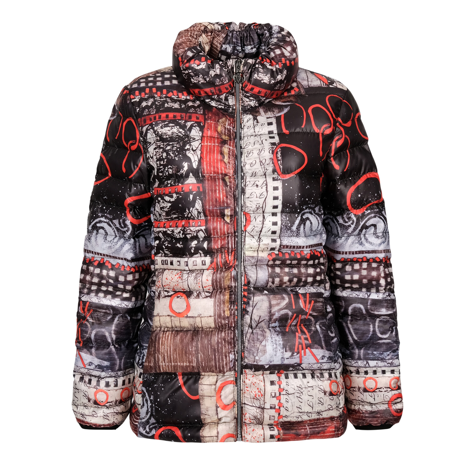 Red and Black Print Jacket