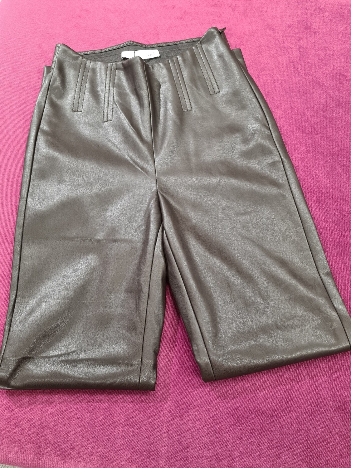 Chocolate Pleather Jeggings