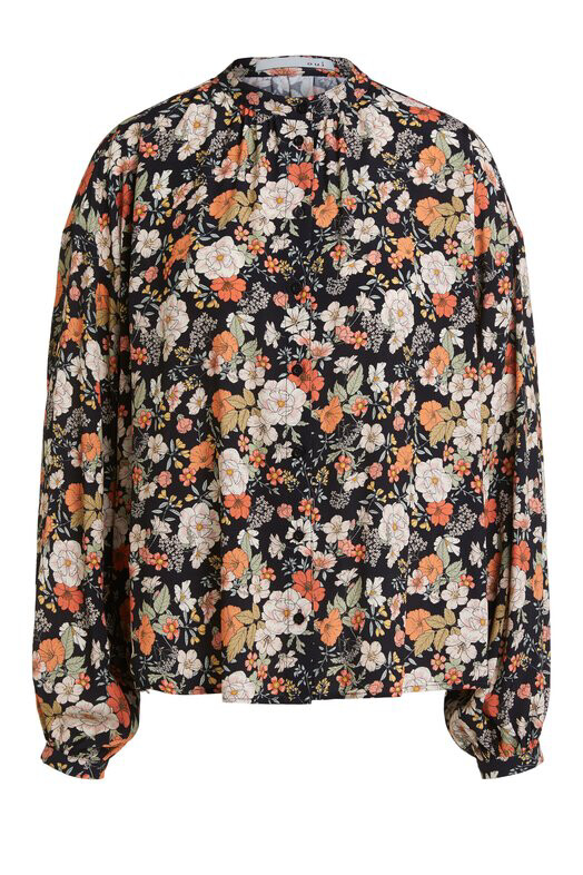 Mixed Print Floral Blouse