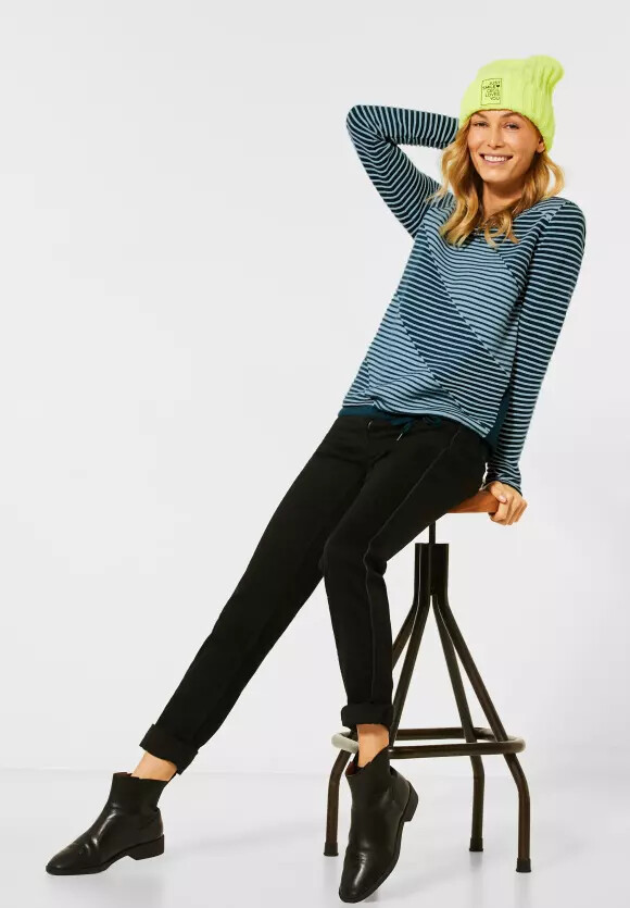 Atlantic Green Stripe Pullover