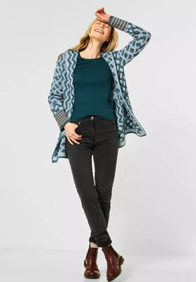 Atlantic Green Patchwork Cardigan