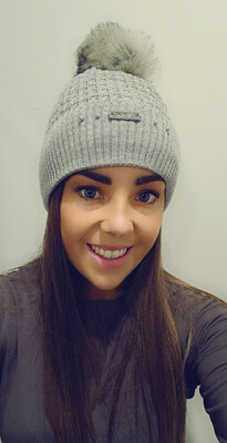Dark Grey Cable Knit Bobble Hat