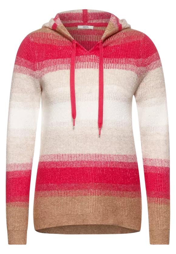 Cosy Striped Hooded Pullover