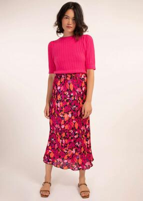'Edelyne' Print Flowing Midi Skirt