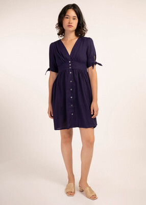 'Amelys' Navy T-Dress
