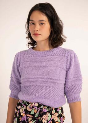 'Nemophila' Lilac Lightweight Knit